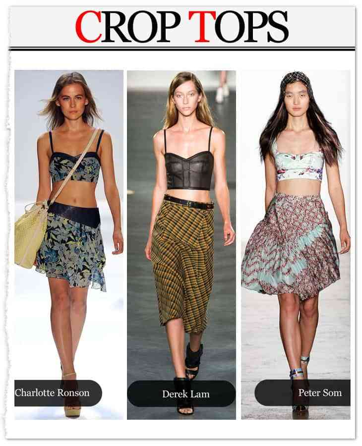 modelos tendencia crop top