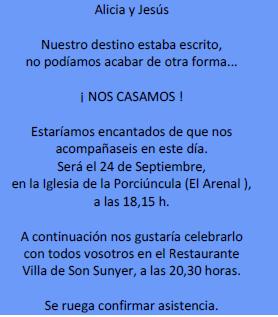 Frases Para Invitacion De Boda