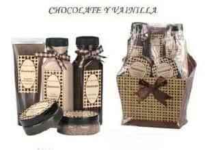 Cesta Spa de vainilla y chocolate