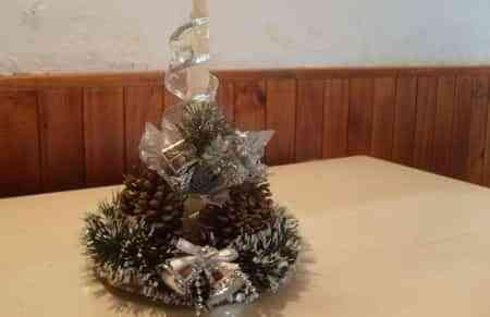 Hermoso centro de mesa navide o amor bodas y regalos de - Como hacer un centro de mesa navideno ...