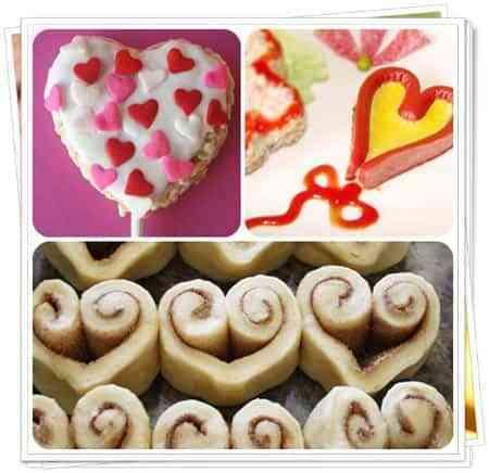 recetas san valentin forma de corazones