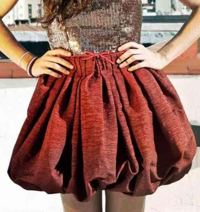 como hacer una falda globo