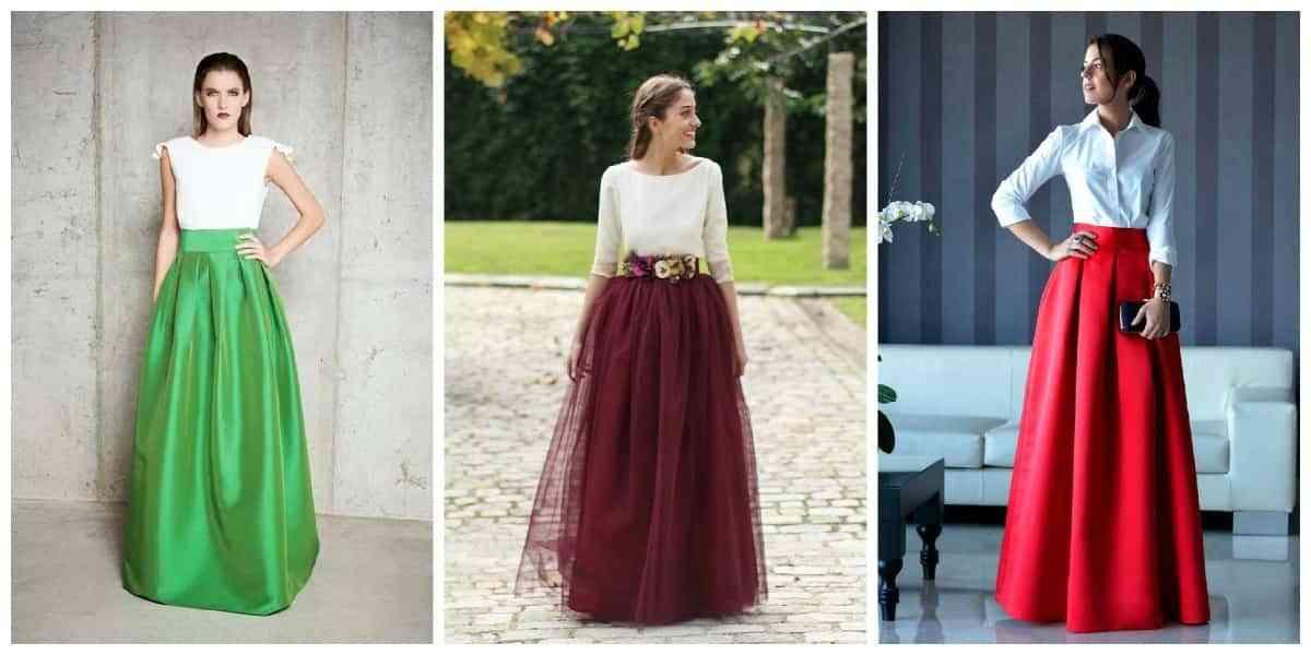 faldas largas de boda