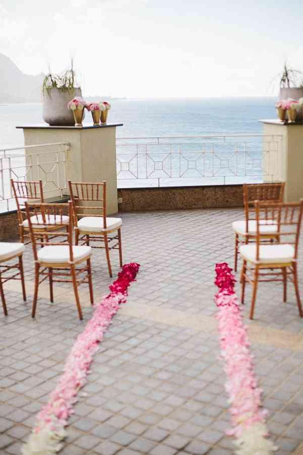 decoración del pasillo de boda