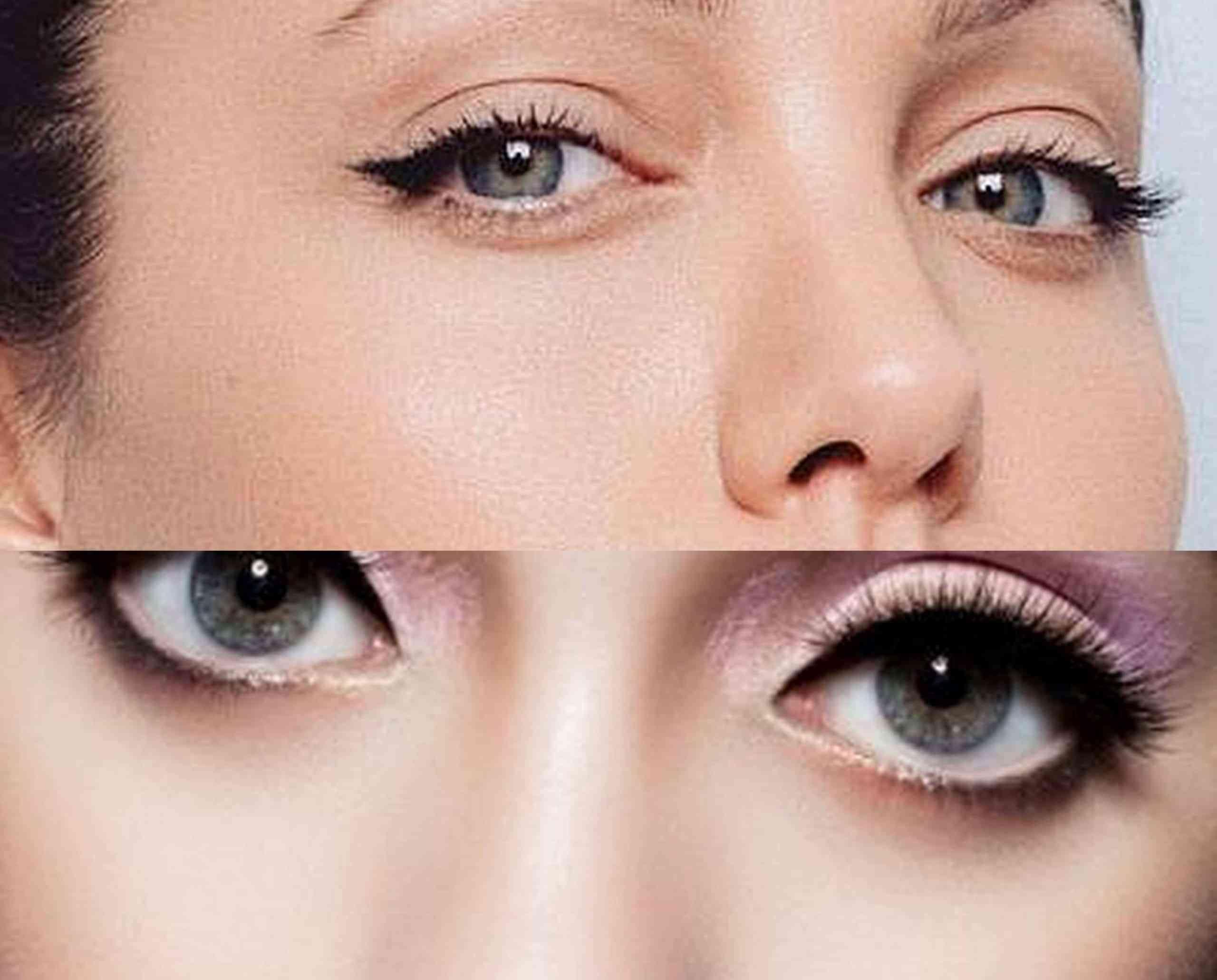 Maquillar los ojos para que se vean más grandes