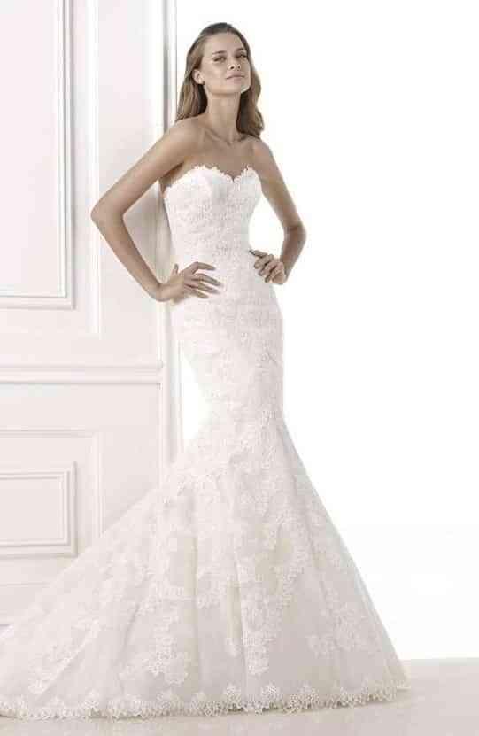 vestidos para novias con escote palabra de honor - amor, bodas y