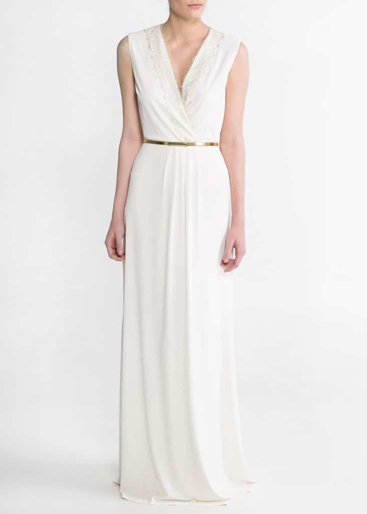 vestido de boda barato color crudo