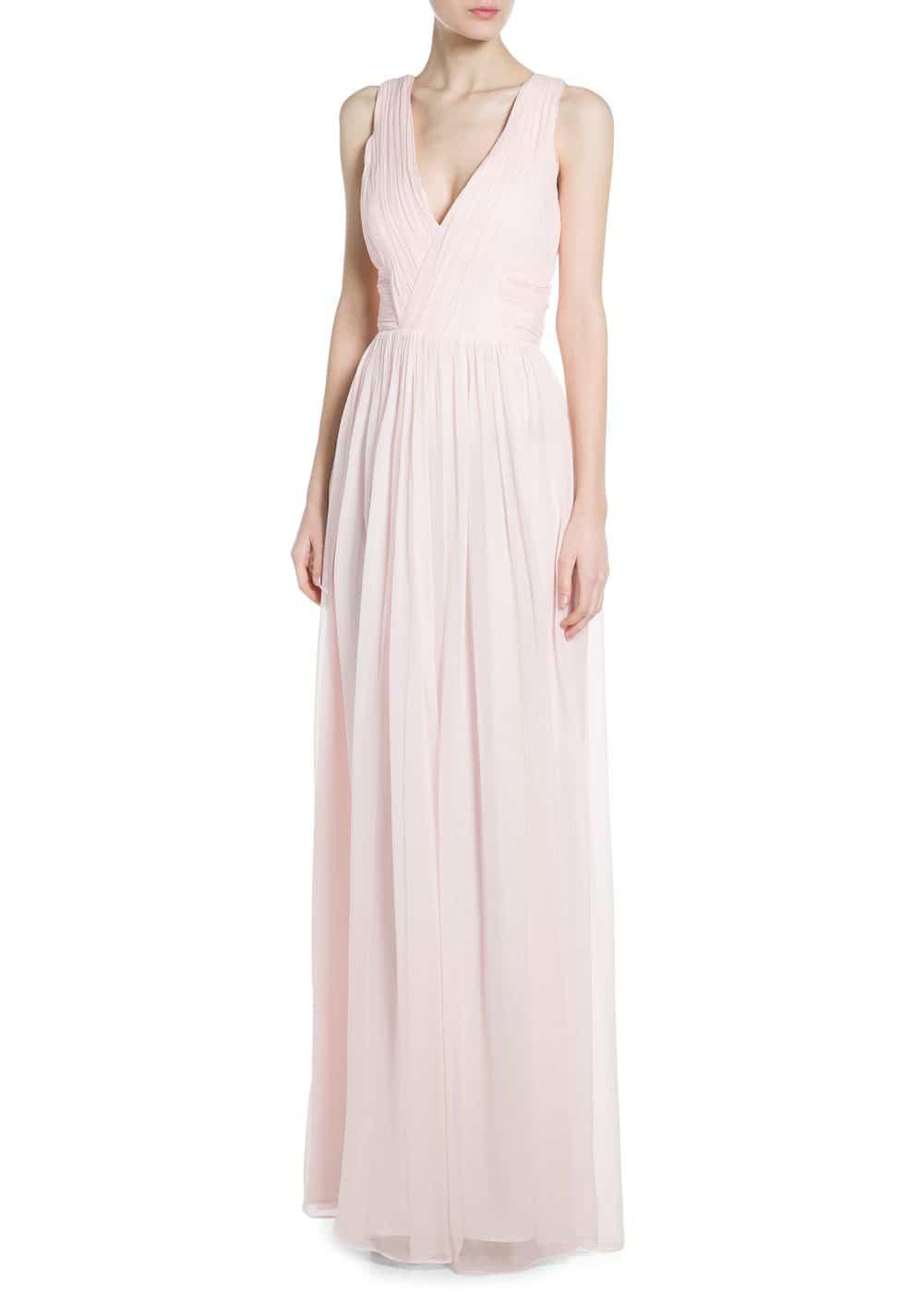 vestido de boda barato rosa 1