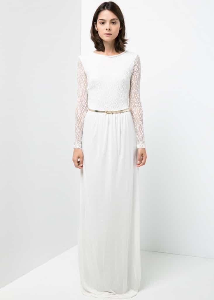 vestido de novia barato blanco impoluto