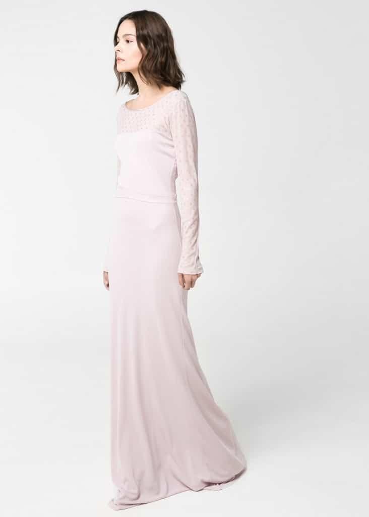 vestido de novia barato lunares