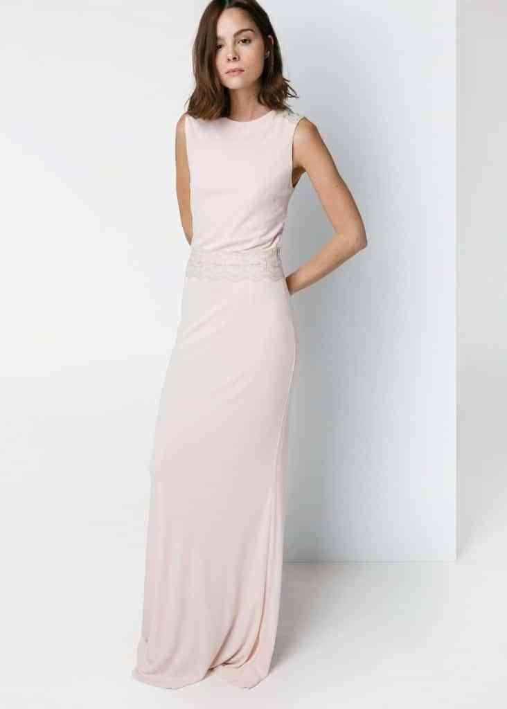vestido de novia barato - rosa con encaje