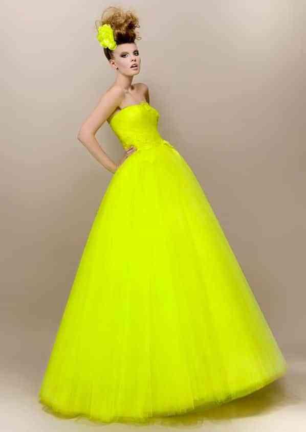 vestido de novia neon