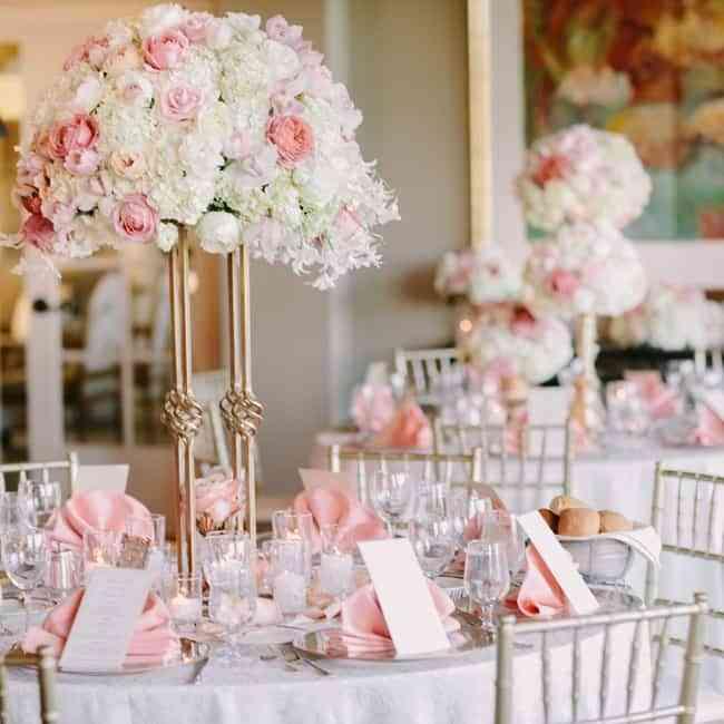 boda decorada en rosa