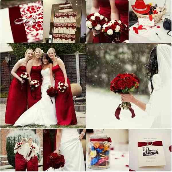 boda en color rojo