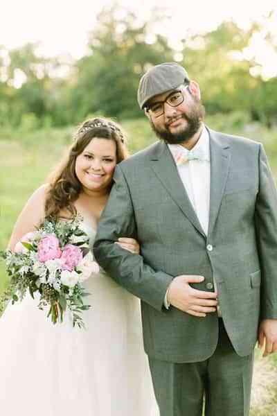 romantica boda en blanco y rosa - boda al aire libre