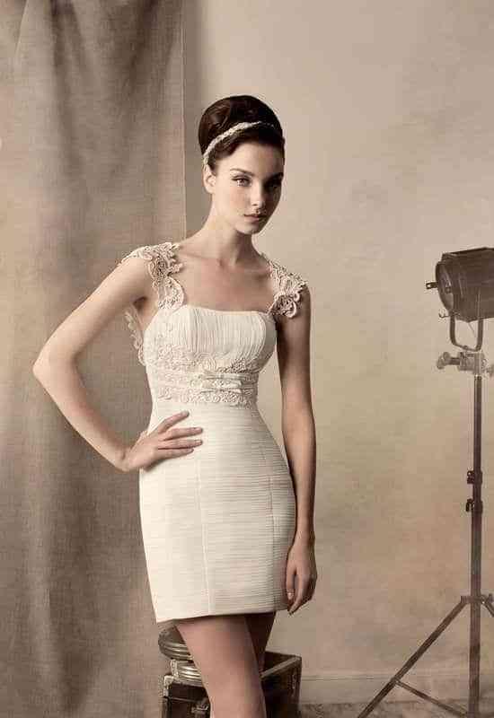 Vestidos de novia cortos ajustados