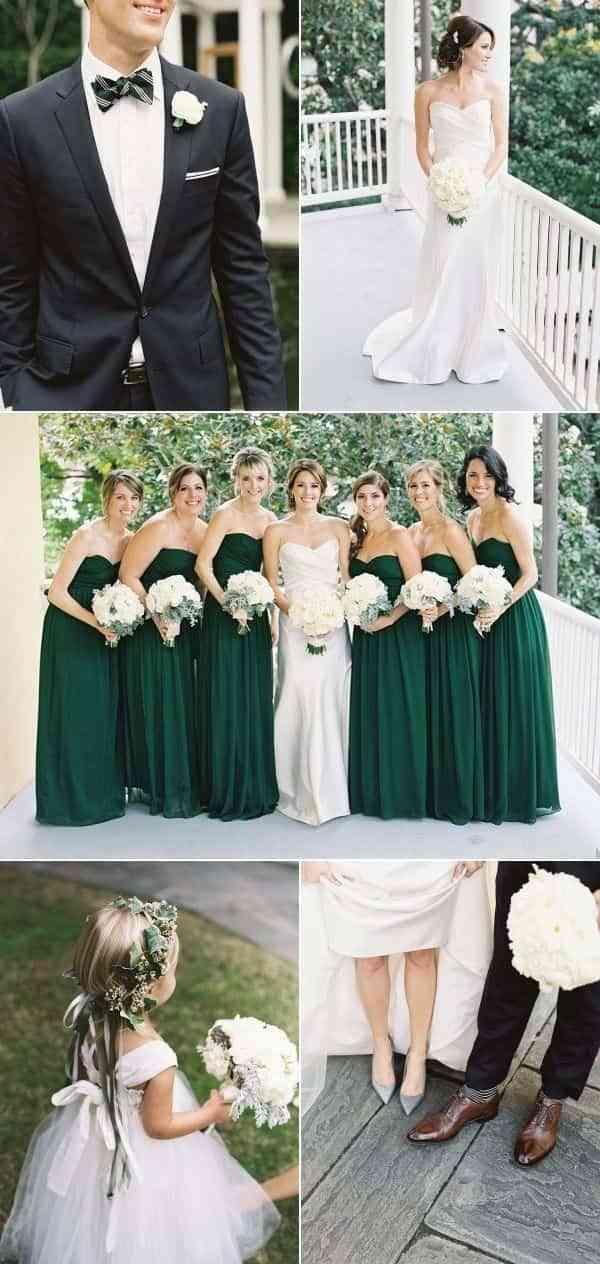 boda verde elegante