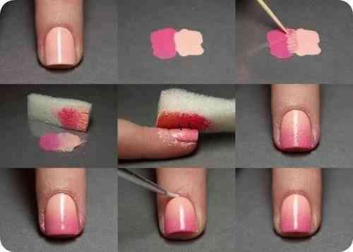 degradado en tus uñas