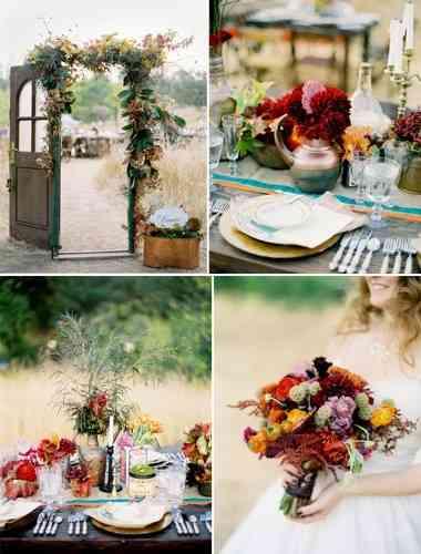 decoración bodas otoño