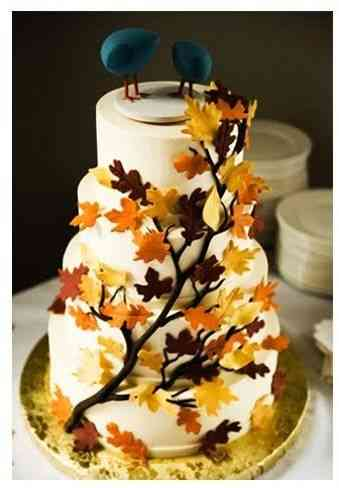 pasteles de boda otoño