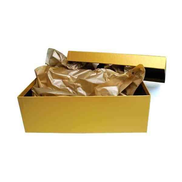 cajas de regalo de boda - ligotes de oro - abierta