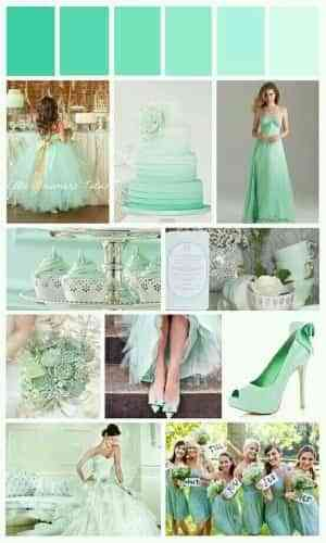 color verde menta para bodas