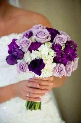 ramo de novia estilo ramillete
