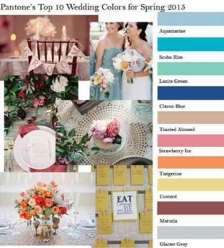 colores para decoración de bodas 2015