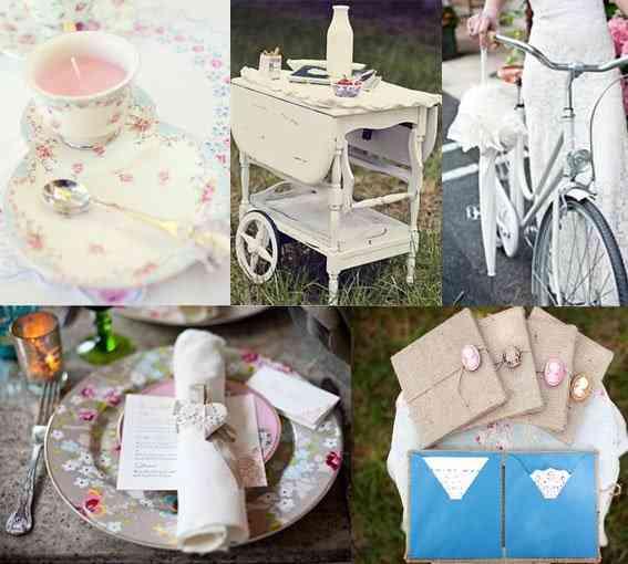 decoración bodas shabby chic