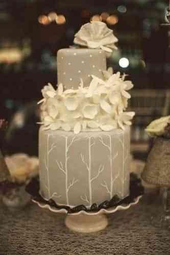 pasteles de boda grises