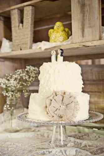 pasteles de boda vintage