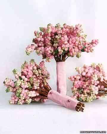 ramo de novia tallo largo