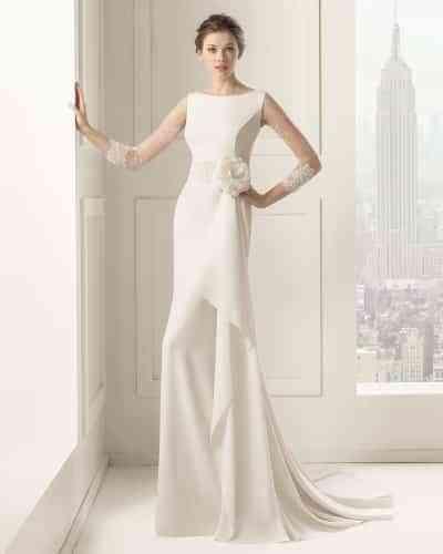 vestido de novia escote barco - amor, bodas y regalos de boda