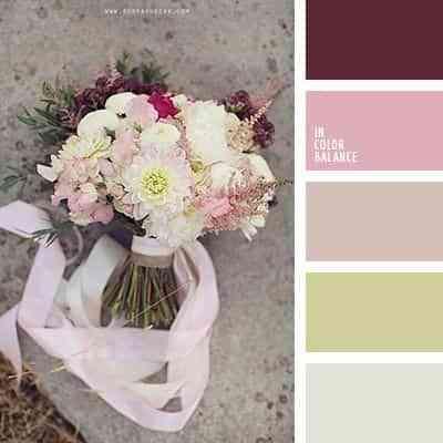colores para un ramo de novia veraniego