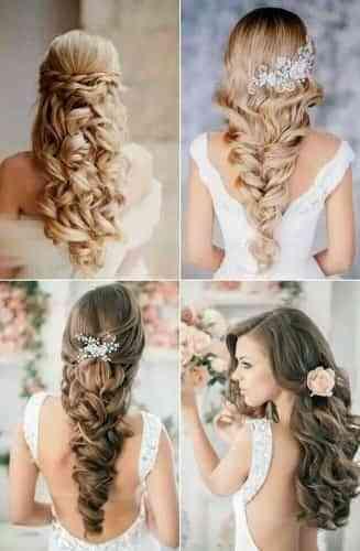 Peinados de novia en pelo largo