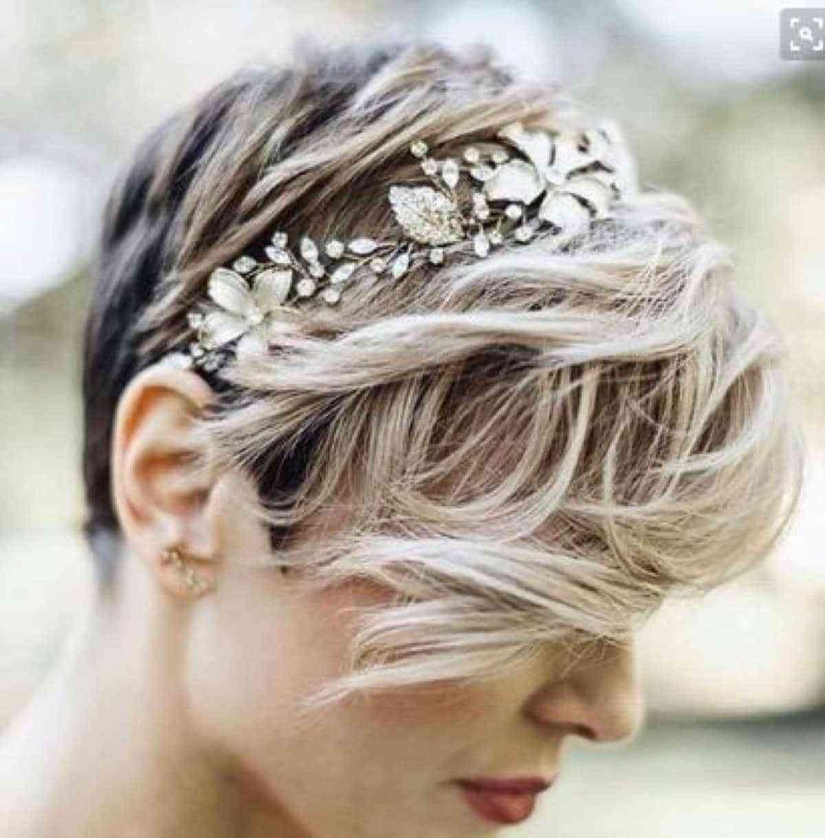 Peinados para novias que tienen poco pelo pixie