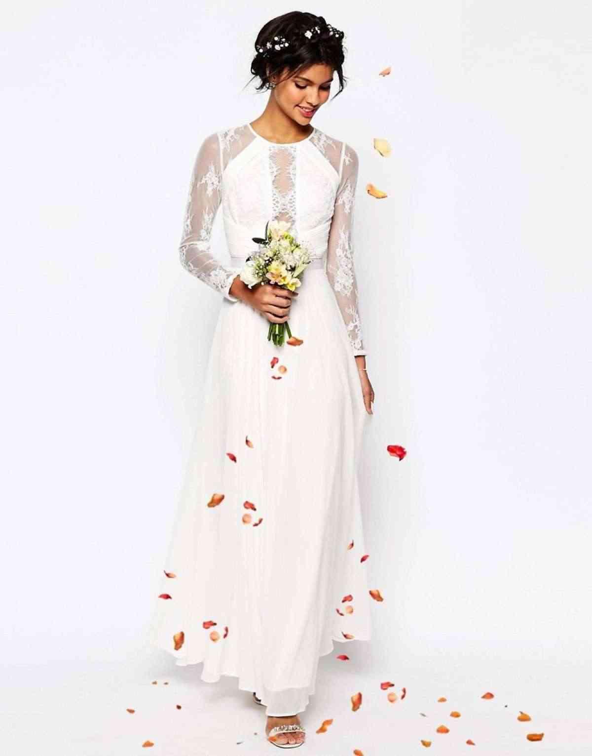 vestido de novia low cost asos