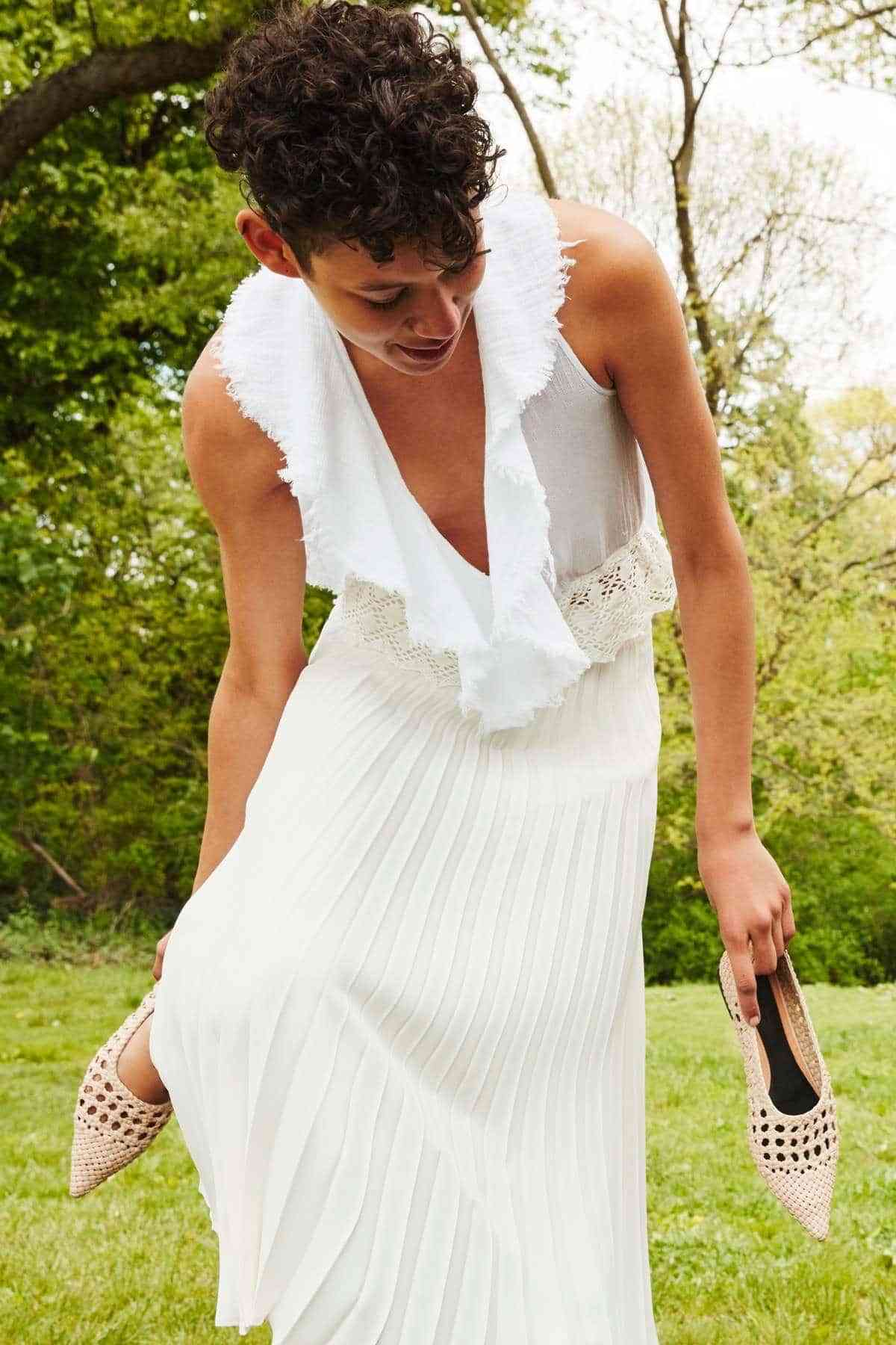 vestidos de novia low cost zara conjunto