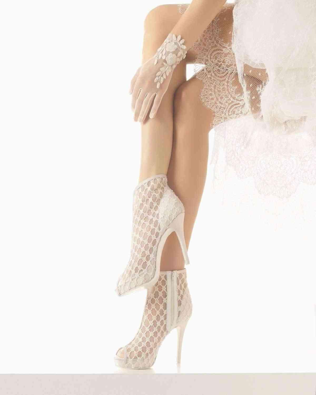 zapatos de novia originales rosa clara