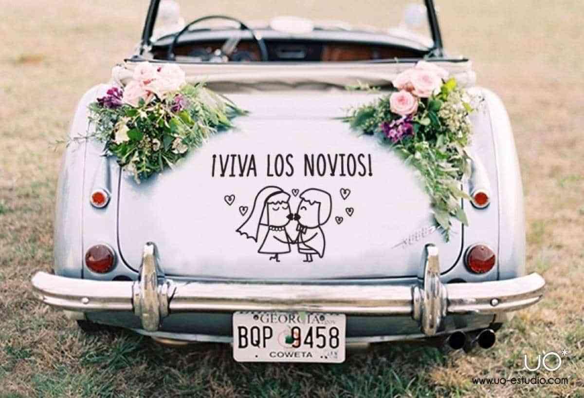 9 adornos para coches de boda realmente originales - Ideas originales decoracion ...