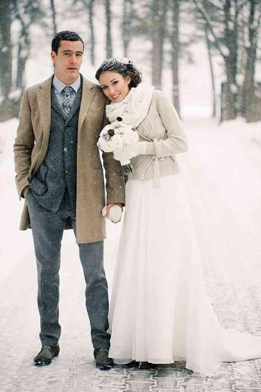 complementos de novia para invierno