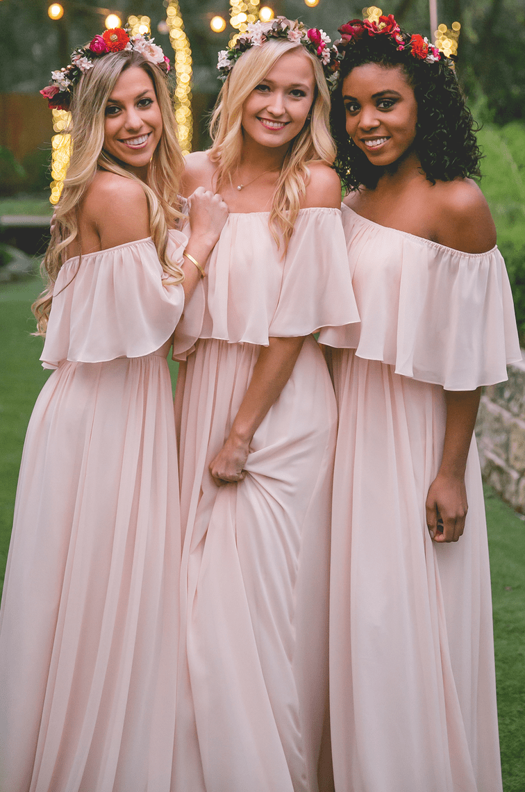 damas de honor en verano