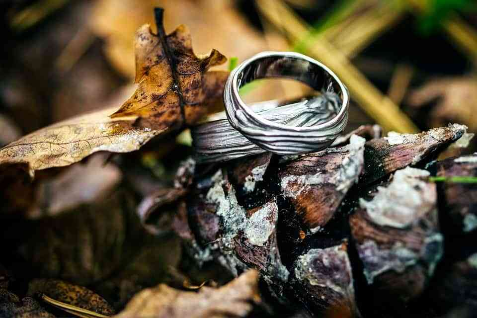anillos boda otono
