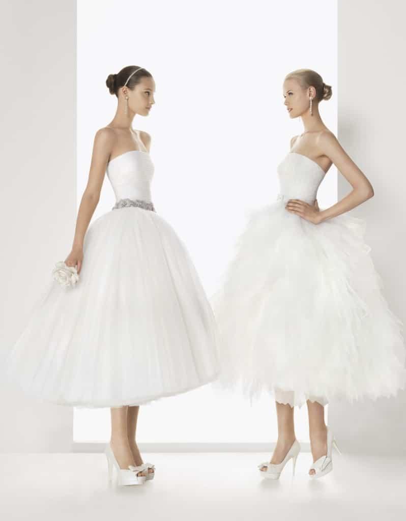 vestidos cortos para novias