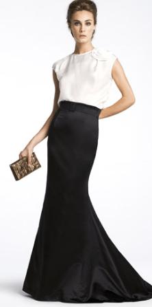 Modelos de vestidos blanco y negro